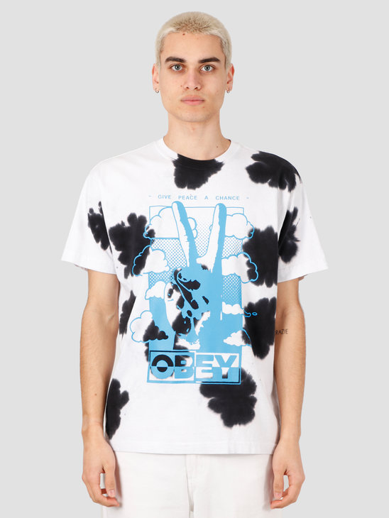 Obey Give Peace A Chance T-Shirt White 163102190-WHT