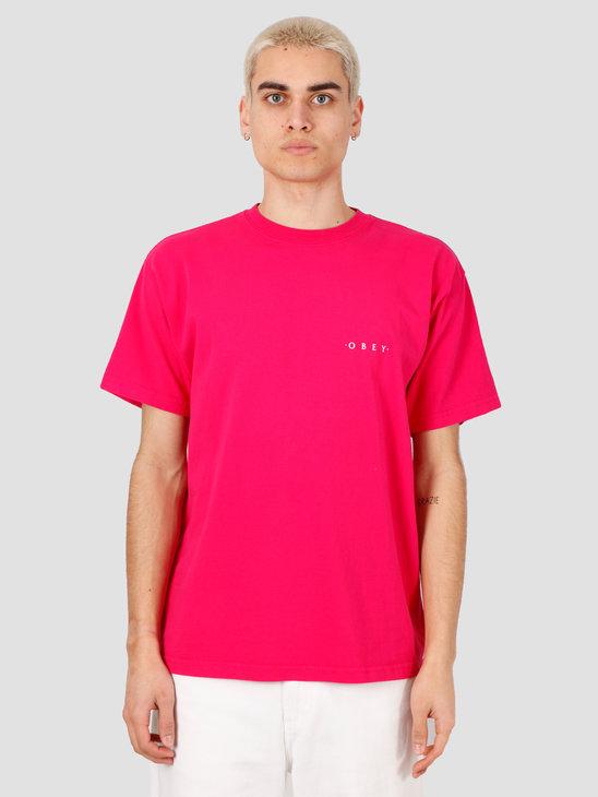 Obey Novel Obey 3 T-Shirt Magenta 166911838-BLK