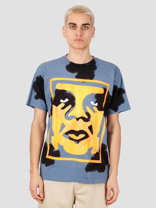 Obey Paper Cut T-Shirt Blue 163102209-BLU