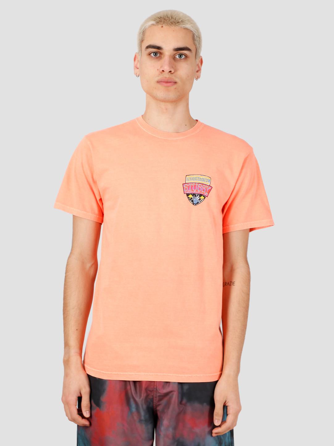 Stussy Stussy Association Pig. Dyed Tee Neon Orange 1904520