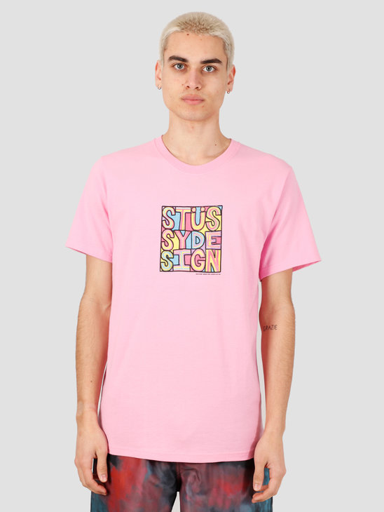 Stussy Clyde Tee Pink 1904503