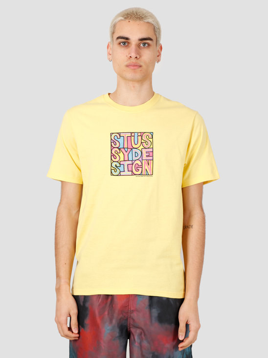Stussy Clyde Tee Yellow 1904503