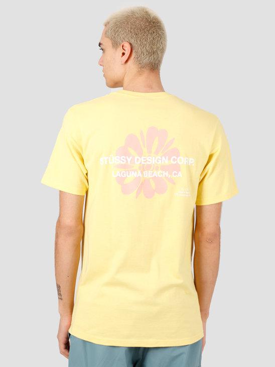 Stussy Laguna Flower Tee Yellow 1904508