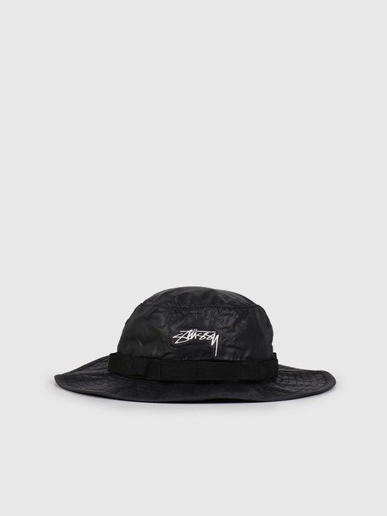 Stussy 2Tone Nylon Boonie Hat Black 132966