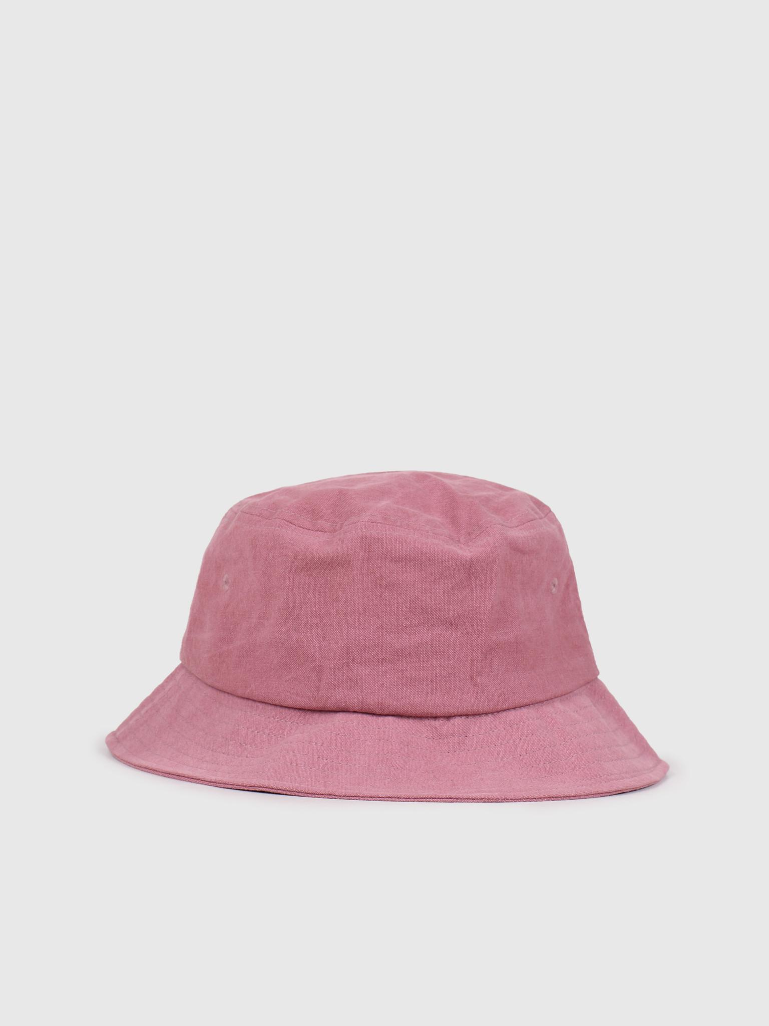 Stussy Stussy Big Logo Canvas Bucket Hat Rose 132967