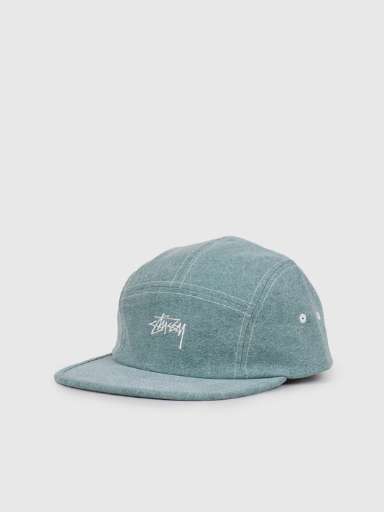 Stussy Stock Washed Canvas Camp Cap Green 132972