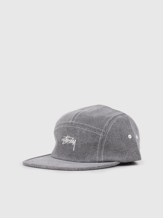 Stussy Stock Washed Canvas Camp Cap Grey 132972