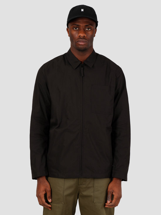 Norse Projects Jens Zip Packable Jacket Black N50-0157-9999