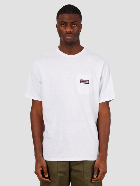 Patagonia M's Boardshort Label Pocket Responsibili T-Shirt White 38510