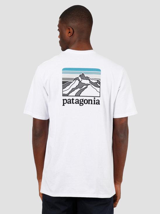 Patagonia M's Line Logo Ridge Pocket Responsibili T-Shirt White 38511