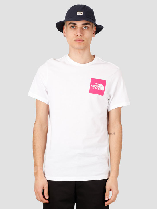 The North Face Short Sleeve Fine Tee TNF White Mr. Pink NF00CEQ5P811