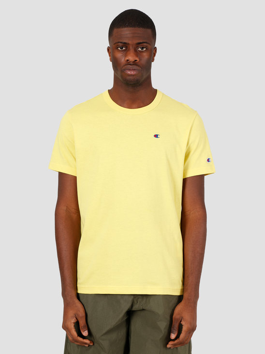 Champion Crewneck T-Shirt Yellow ACA 214674-YS046