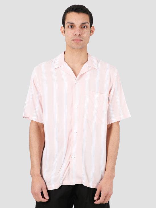 Carhartt WIP Chester Short Sleeve Shirt Chester Stripe Powdery I027507-08T90