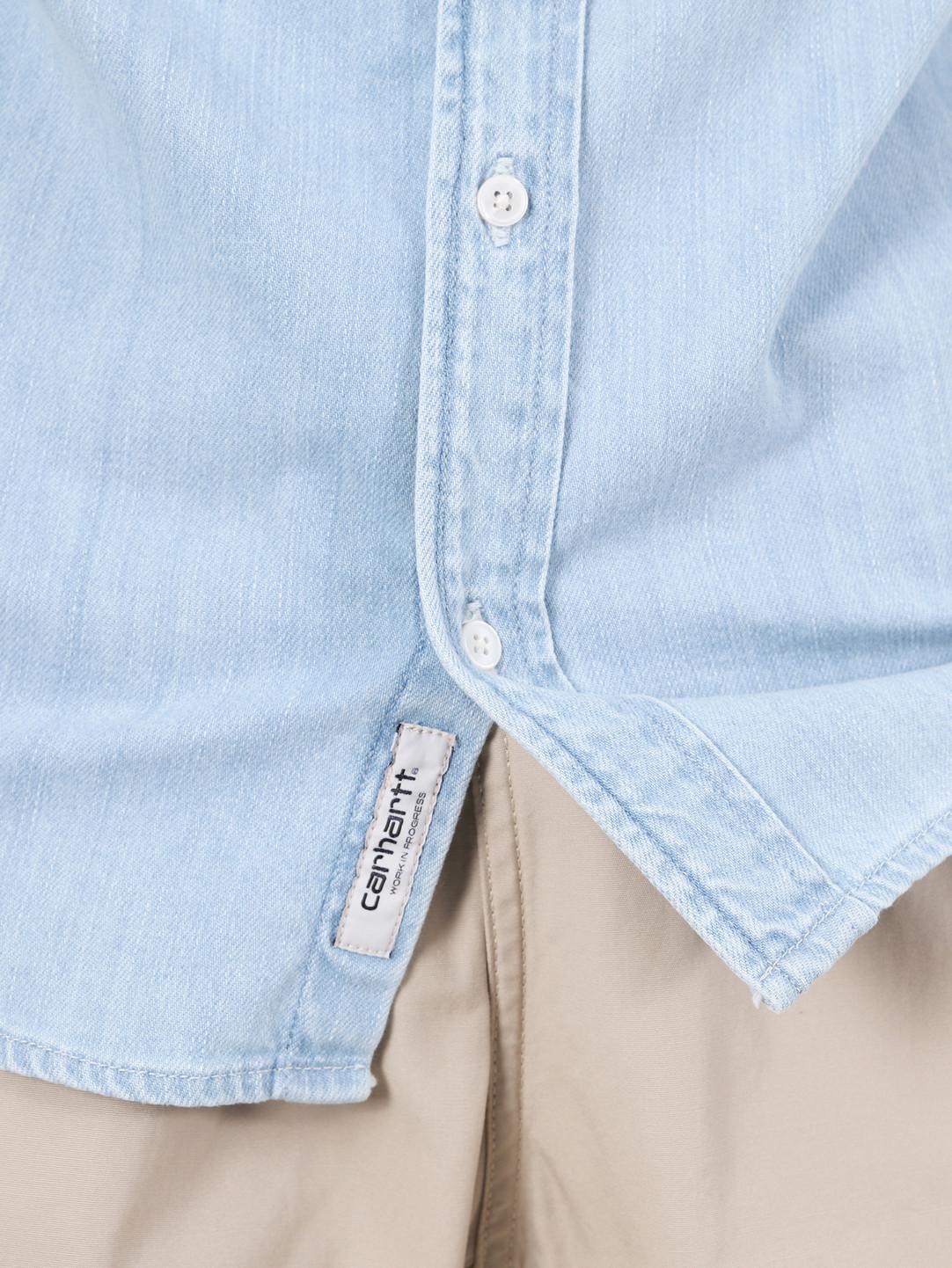 Carhartt WIP Carhartt WIP Civil Shirt Blue Bleached I027984-135