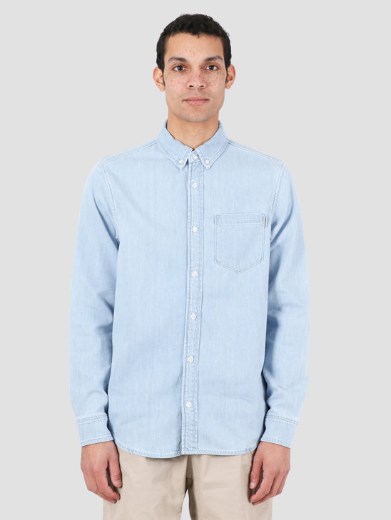 Carhartt WIP Civil Shirt Blue Bleached I027984-135