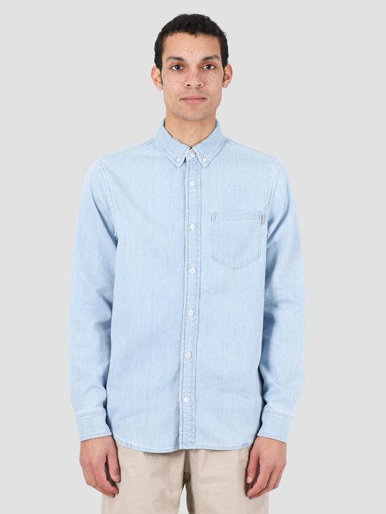 Carhartt WIP Civil Shirt Blue Bleached I027984-135