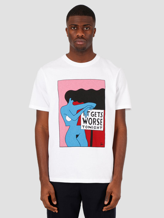 by Parra It Gets Worse T-Shirt White 43770