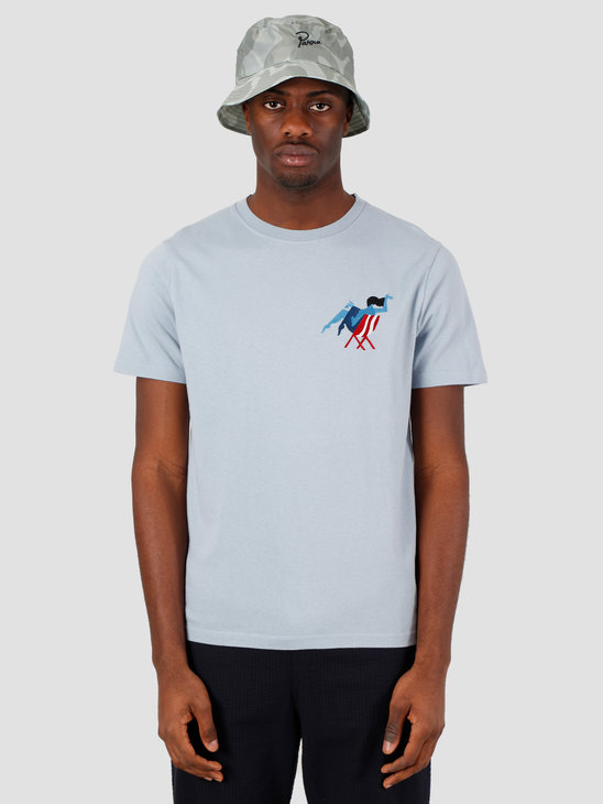 by Parra Madame Beach T-Shirt Dusty Blue 43750
