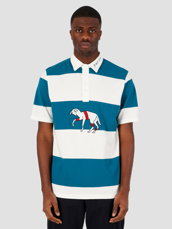 by Parra Striped Goat Polo Shirt Multi 43760