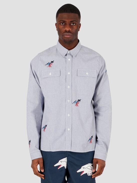 by Parra Madame Beach Striped Shirt Blue White Stripe 43800