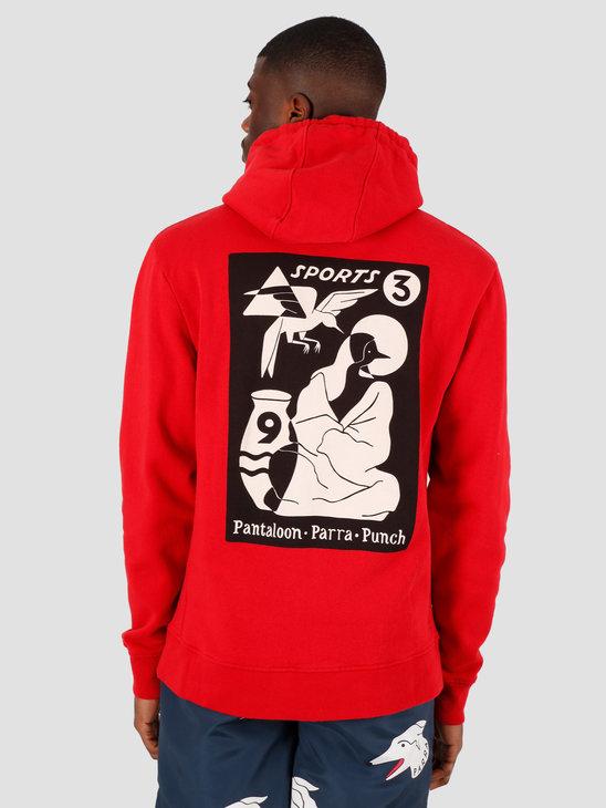by Parra Wrapped Blanket Hooded Sweatsh Red 43780