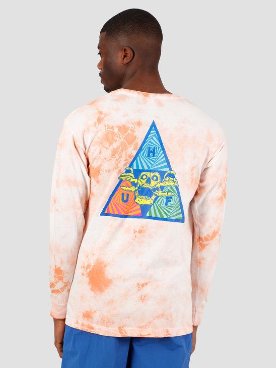 HUF Acid Skull TT Longsleeve  Coral Pink TS00992
