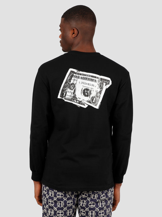 HUF Death & Taxes Longsleeve  Black TS01004