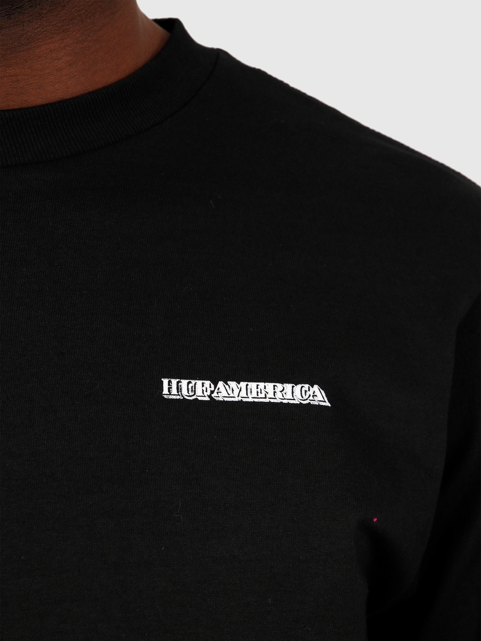 HUF HUF Death & Taxes Longsleeve  Black TS01004