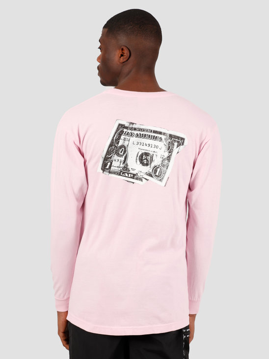 HUF Death & Taxes Longsleeve  Coral Pink TS01004