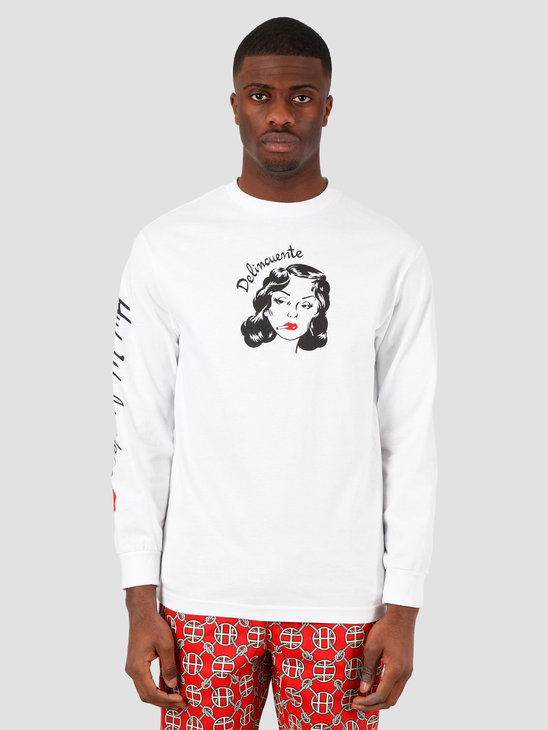 HUF Delincuente Longsleeve  White TS01007
