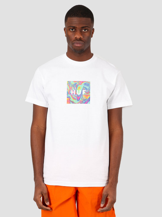 HUF Acid House Box Logo T-Shirt White TS01021