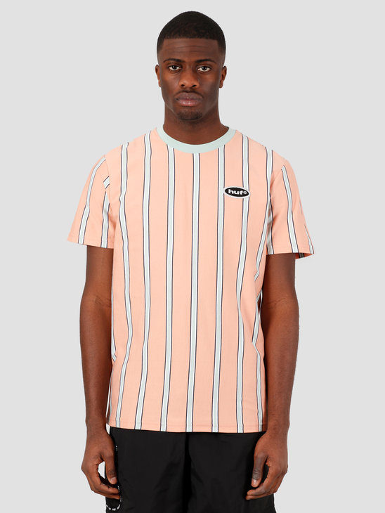 HUF Jerome Yds T-Shirt Knit Top Coral Pink KN00167