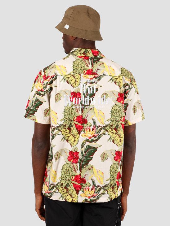 HUF Paraiso Resort Shortsleeve Woven Shirt Natural BU00068