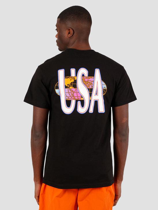 HUF Quake Usa T-Shirt Black TS01049
