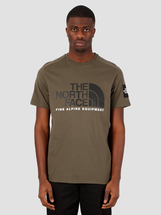 The North Face Short Sleeve Fine Alpine Tee 2 New Taupe Green TNF Black NF0A4M6NBQW1
