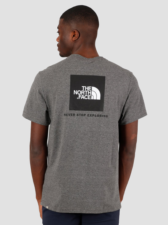 The North Face Short Sleeve Redbox Tee TNF Medium Grey Heather NF0A2TX2JBV1