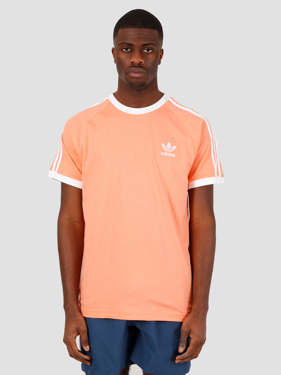 adidas 3-Stripes T-Shirt Chalk Coral FM3774