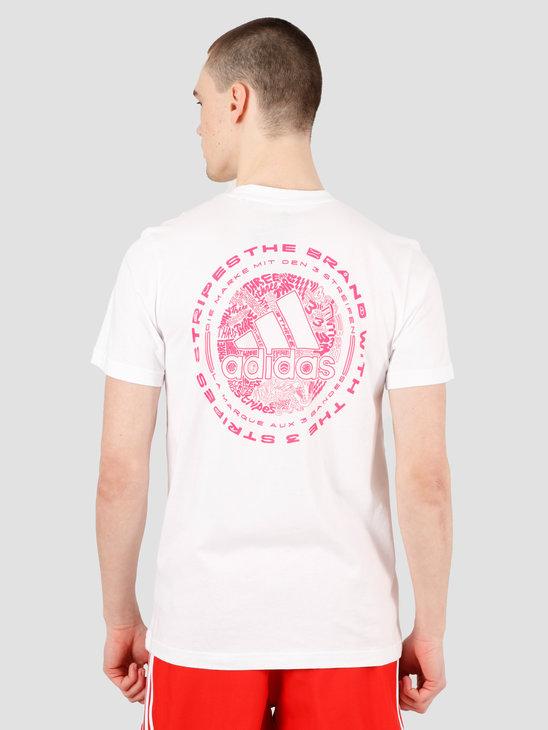 adidas Doodle Emblem T-Shirt White FN1749