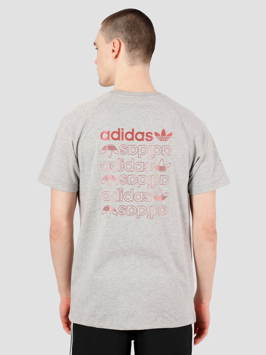 adidas Zeno T-Shirt Medium Grey Heather Scarle FS7328