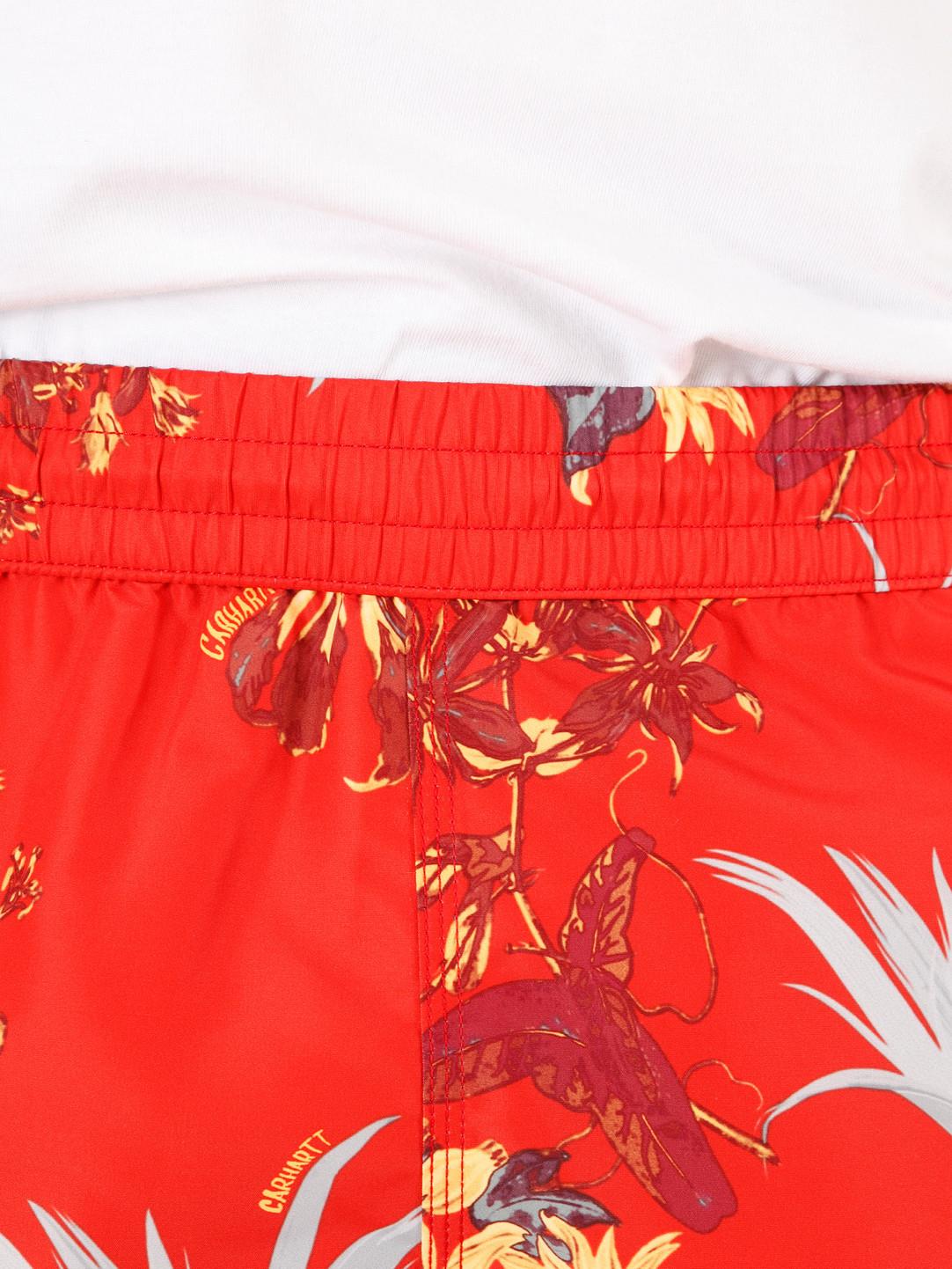 Carhartt WIP Carhartt WIP Drift Swim Trunks Hawaiian Floral Print Red I015812-09L00