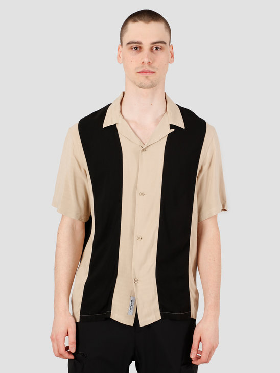 Carhartt WIP Lane Short Sleeve Shirt Wall Black I027508-G190