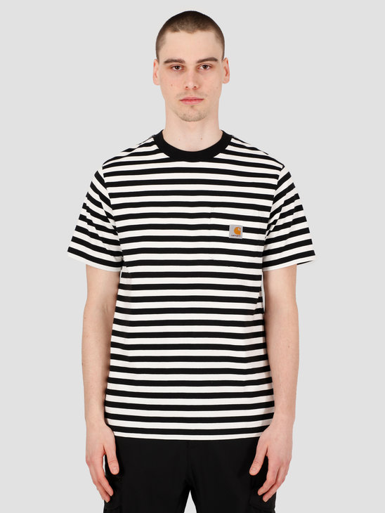 Carhartt WIP Scotty Pocket T-Shirt Scotty Stripe Black Wax I027732-891A