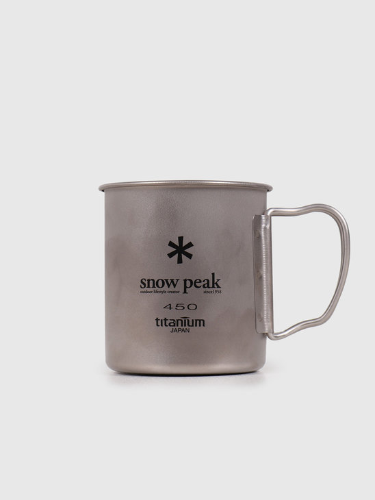 Snow Peak Titanium Single Cup 450 Grey MG-043R