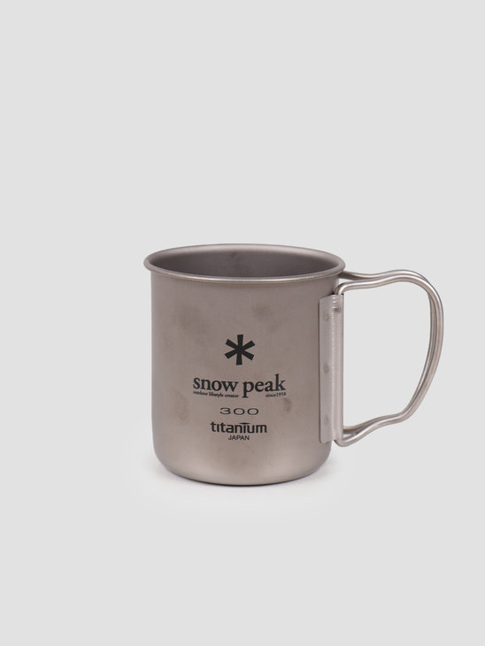 Snow Peak Titanium Single Cup 300 Folding Handle Grey MG-042FHR
