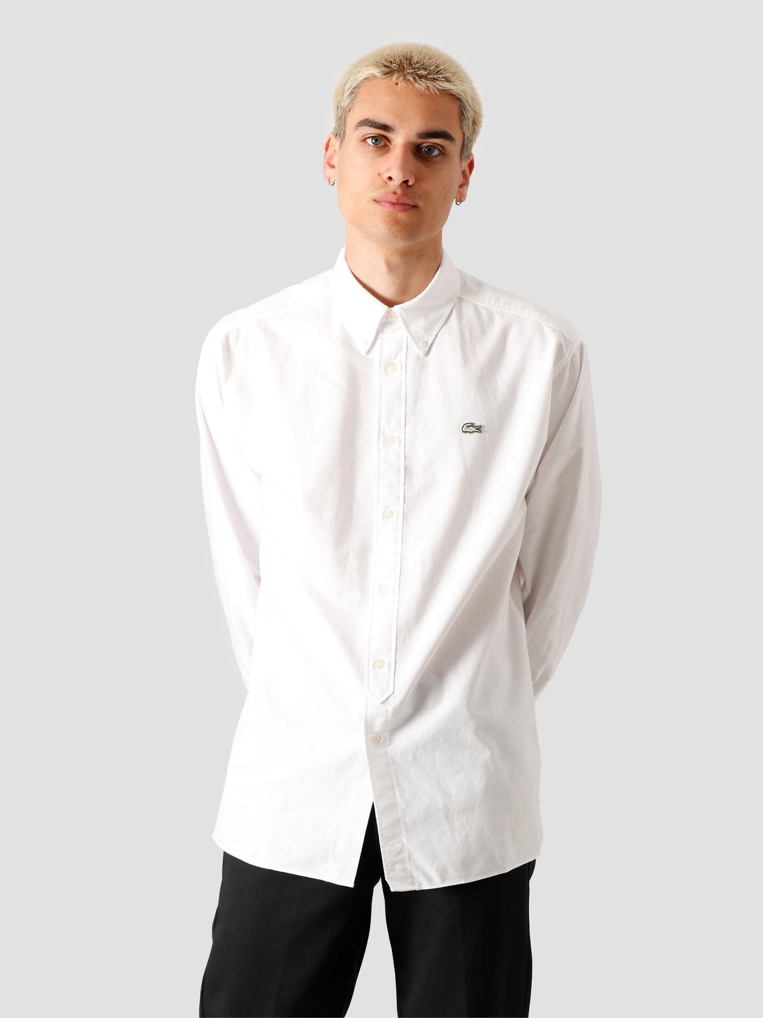 Lacoste Lacoste 1HC2 Men's Long Sleeve woven shirt 02 White Flour CH3942-01