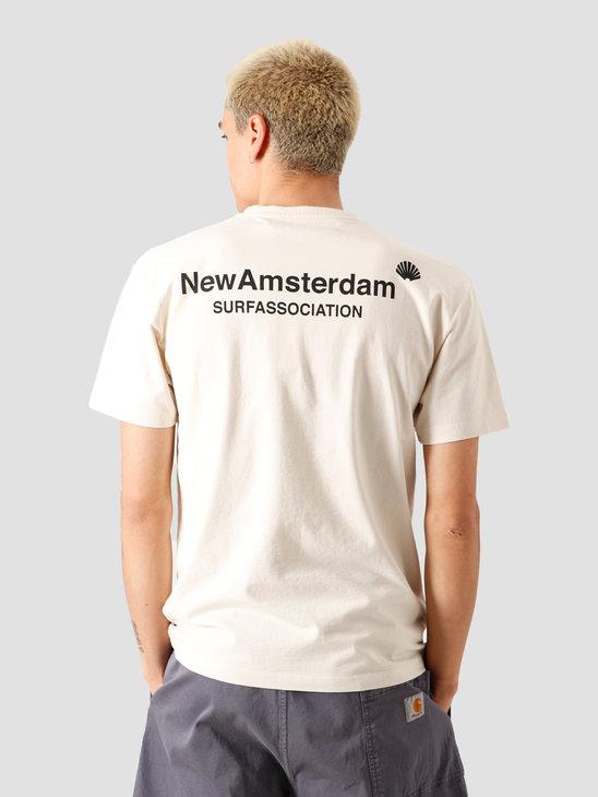 New Amsterdam Surf association Logo T-Shirt Off White 2020001