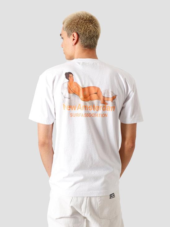 New Amsterdam Surf association Burn T-Shirt White 2020013