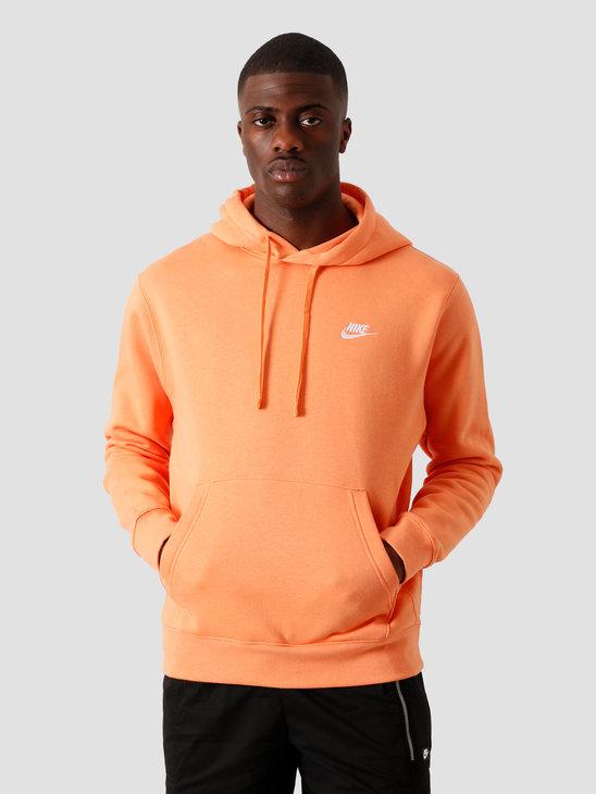 Nike NSW Club Hoodie BB Orange Trance Orange Trance White BV2654-871