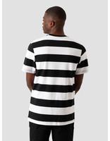 Nike Nike NSW Swoosh Stripe T-Shirt White Black Black Particle Grey CQ5196-100