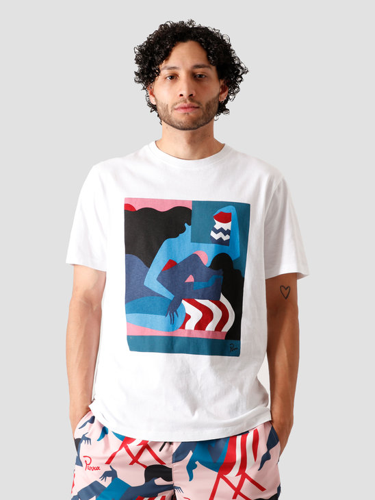 by Parra The Comforting Room T-Shirt White 43870